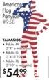 American Flag Partysuit