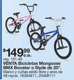 Bicicletas Mongoose BMX Booster o Slyde De 20''