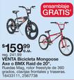 Bicicleta Mongoose Axe o BMX Raid De 20''
