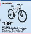 Bicicleta De Montaña Mongoose Torment De 29''