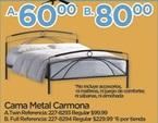 Cama Metal Carmona Twin